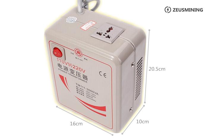 Transformadores de potencia de 110 V a 220 V