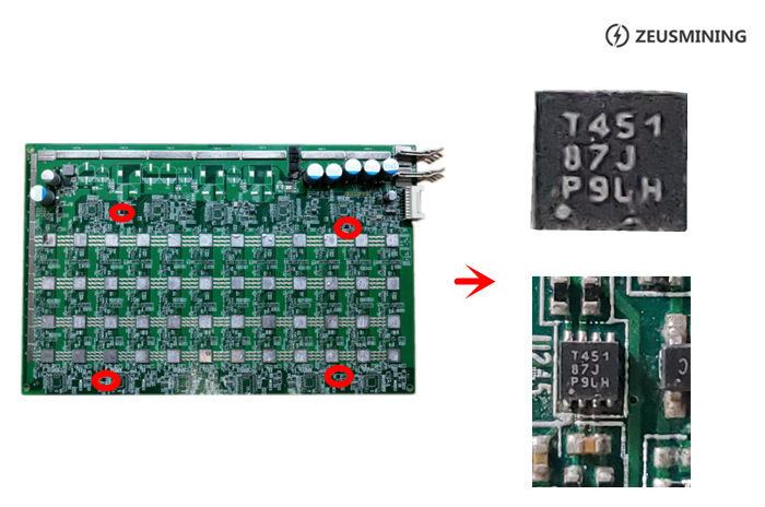 Tablero hash T451 Sensor de temperatura