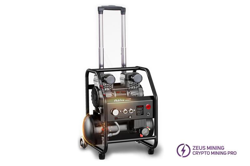 Compresor de aire con barra de acoplamiento