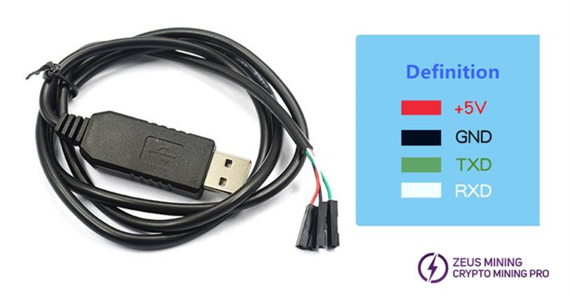 USB a TTL para el dispositivo de prueba